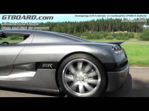 HD: Lambo LP560-4 vs Koenigsegg CCR Evolution