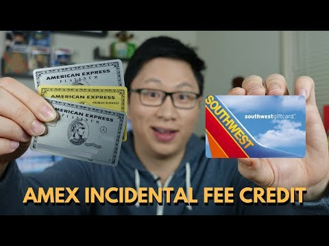 How To Use Amex Airline Incidental Fee Credits