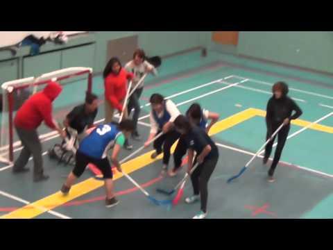 Floor Hockey-Sr.Girls. Red Earth Cree Nation and Shoal Lake Cree Nation  2014