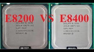 cравнение процессоров E8200 и E8400, тест e8400