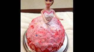 barbie doll cake recipe - strawberry cake recipe - dotp - Ep (265)