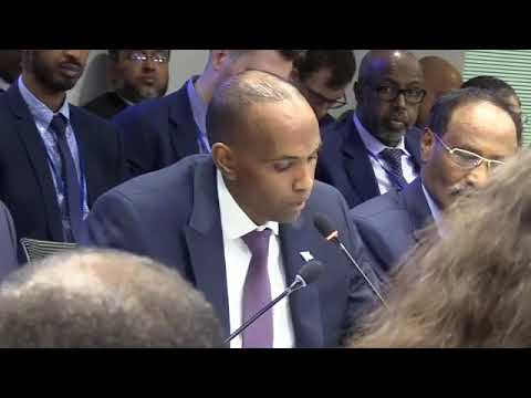 Somali PM speaks corruption and revenue collection at IMF & World Bank Roundtable in Washington DC