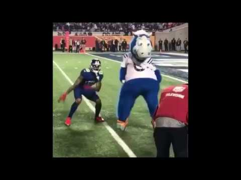 Odell Beckham Jr. Pro Bowl DANCE OFF vs Colts mascot - Kirk Cousins to Odell