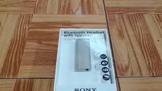 Unboxing Y Preview De Bluetooth Headset With Speaker Sony SBH56