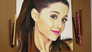 [Tutorial] Cómo dibujar un rostro (con prismacolor) - ARIANA GRANDE / How to draw a face