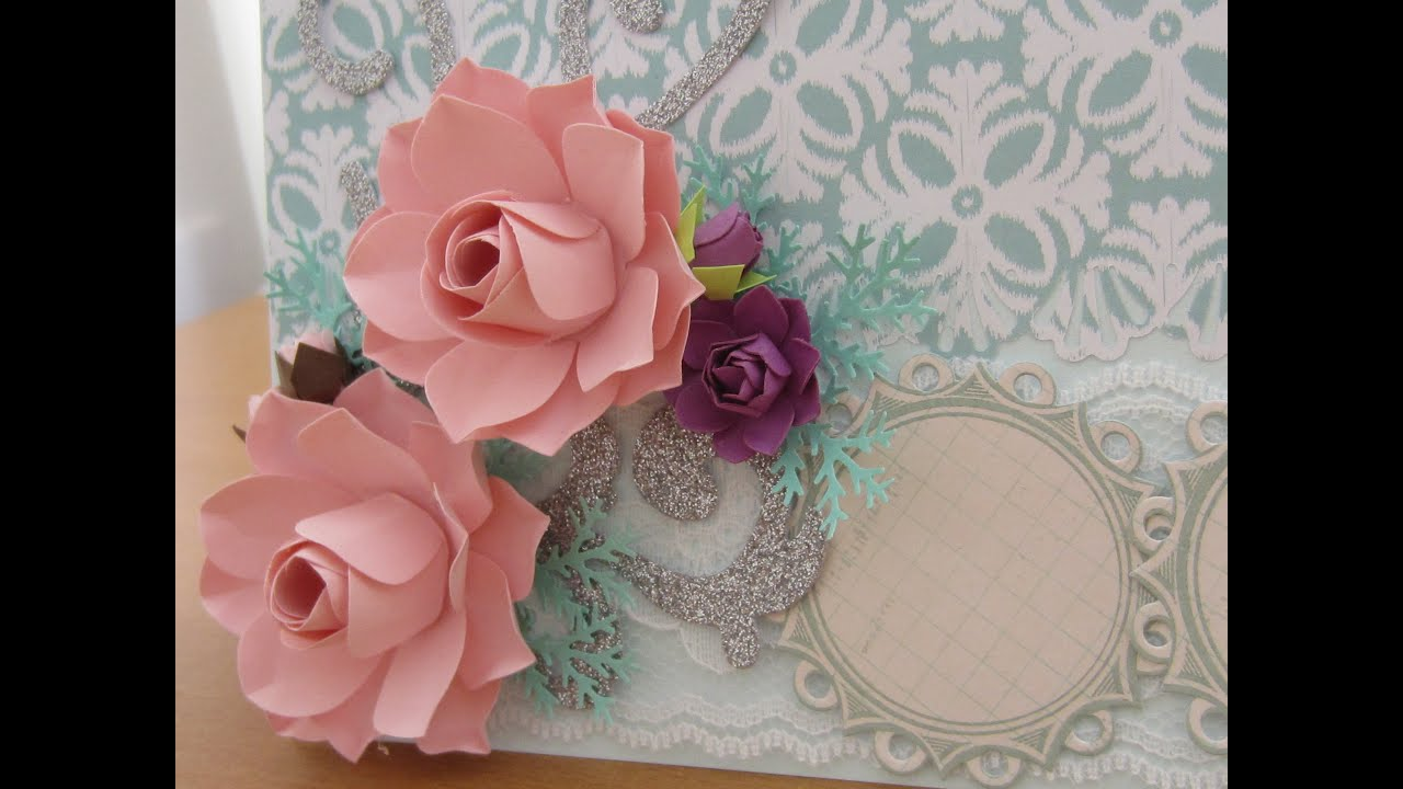 How to make paper flower for handmade card decoration youtube mightylinksfo