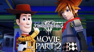 KINGDOM HEARTS 3 All Cutscenes (PART 2) Game Movie Xbox One X Enhanced