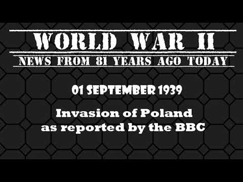 WAR! WW2 Radio News:  Invasion of Poland as reported by the BBC