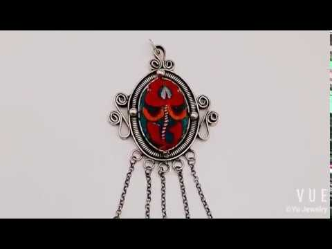 OVAL CLASSIC RED MIAO TRIBE NECKLACE