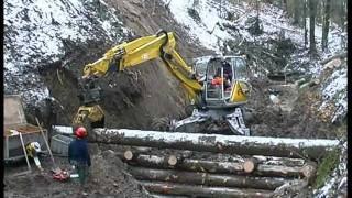 Menzi Muck A91 4x4plus in der Wildbachverbauung - Mountain torrent protection