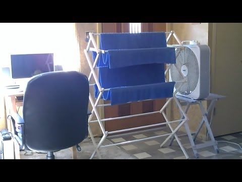 Homemade Evap./Swamp Air Cooler - DIY AC (air cooler) - Low tech. Very Effective!