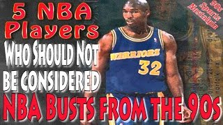 5 NBA Players Who Should Not Be Considered NBA Busts From the 90s
