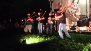 FUTHARK M.W.M. Medieval war music & Barbarian Pipe Band live to BREAKING THE AGE