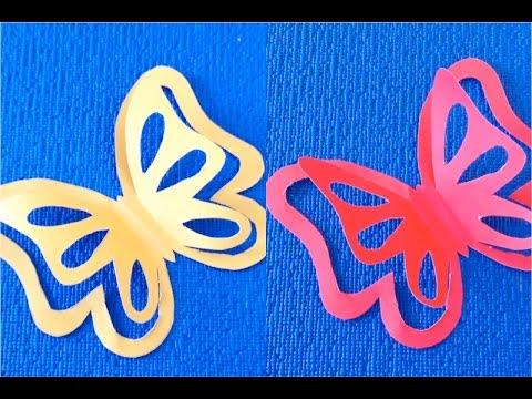 Diy - Como hacer mariposas de papel ...