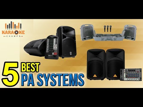 Top 5 Best Portable PA Systems | Karaoke Champs