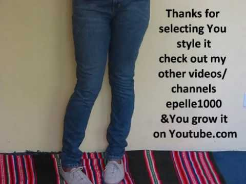 DIY:how to make skinny jeans from boot cut/flare bottoms - YouTube