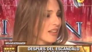 Pampita hablo tras el escandalo con Marcelo Tinelli
