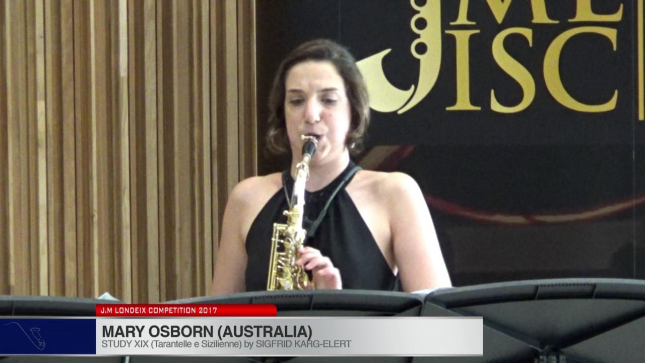 Londeix 2017 - Mary Osborn (Australia) - XIX Tarantelle e Sizilienne by Sigfrid Karg-Elert