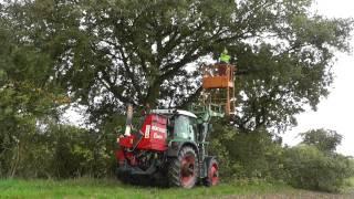 Landschaftspflege mit Fendt 309 Vario, Arbeitsplattform und Mauch Herkules C150/170![HD]