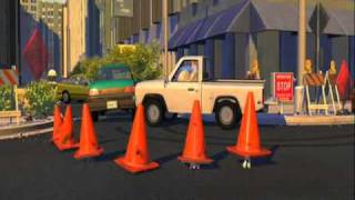 toy story 2 the road crossing scene with subtitles