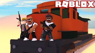 ROBBING THE NEW TRAIN IN ROBLOX JAILBREAK