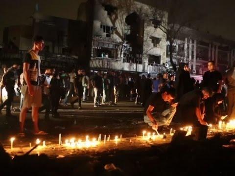 Raw: Candlelight Vigil For Baghdad Blast Victims
