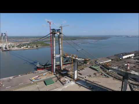 BEZ_DRONE - Maputo Catembe Bridge, Mozambique