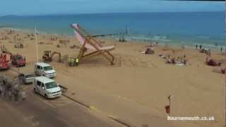 The Pimm's Deck Chair, Returns To Bournemouth!  Timelapse