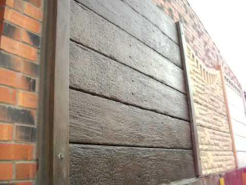 Concrete Wood Effect Sleeper Gravel Board  YouTube