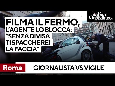 Giornalista filma fermo di un ambulante. Agente: 'Senza divisa le spaccherei in testa la telecamera'