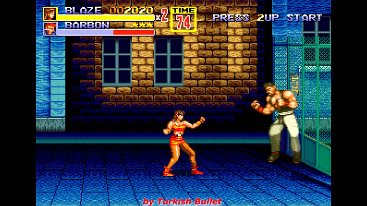 Bare Knuckle Ii Beta Sega Mega Drive Longplay Blaze