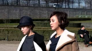 Ivy CHEN YIHAN 陳意涵 @ Paris Fashion Week 5 march 2015 show Carven