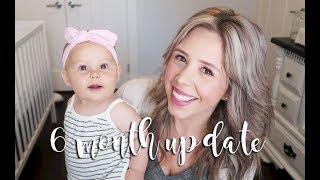 BABY'S 6 MONTH UPDATE | SLEEP TRAINING + STARTING TO CRAWL?