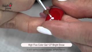 Дизайн ногтей гелевым лаком High Five