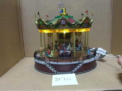 Lemax Village Collection Sunshine Carousel 14325 As-Is 3170