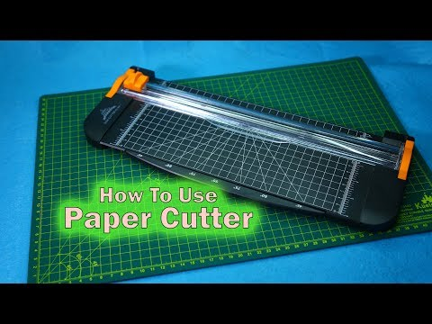 How to use paper cutter