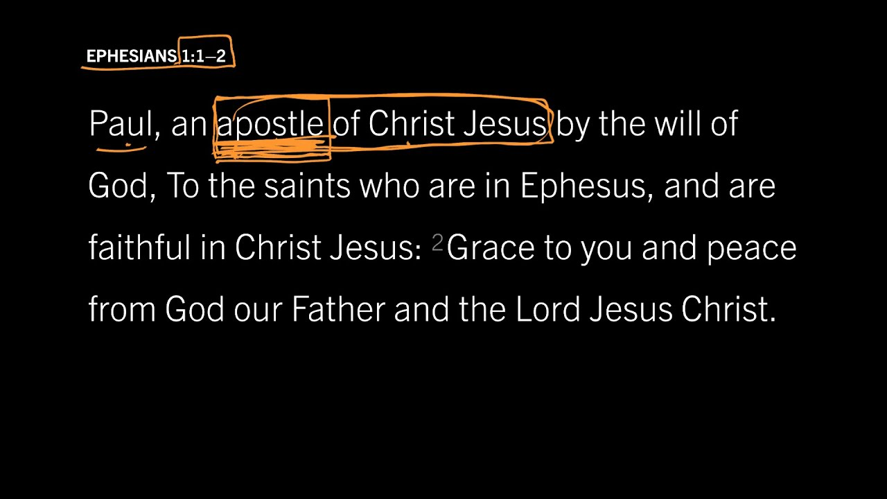 Ephesians 1:1–2 // Part 2 // What Does It Mean to Be an Apostle?