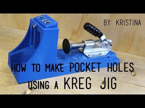 How to use a KREG JIG to create pocket holes.