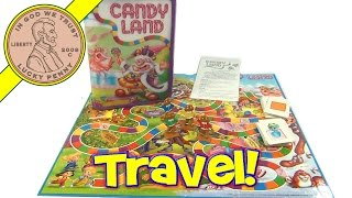 Candy Land Travel Board Game Zip-Up Case 2009 by Hasbro Toys