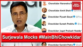 'Modi Baba & His 40 Thieves': Randeep Surjewala Mocks BJP's #MainBhiChowkidar Campaign