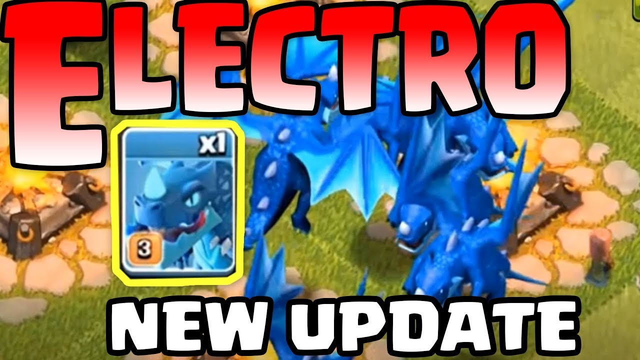 Electro DragonTown Hall 12 NEW Troop || Clash Of ClansTH 12 Update ||  Rồng Điện