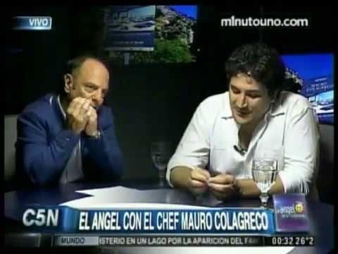 C5N - EL ANGEL DE LA MEDIANOCHE: ENTREVISTA AL CHEF MAURO COLAGRECO (PARTE 1)