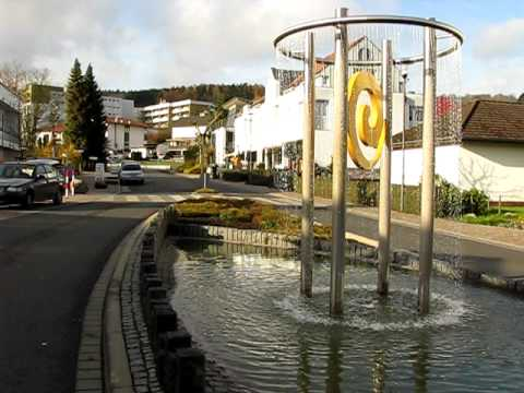 springbrunnen vor der spessart therme in bad soden salm nster youtube. Black Bedroom Furniture Sets. Home Design Ideas
