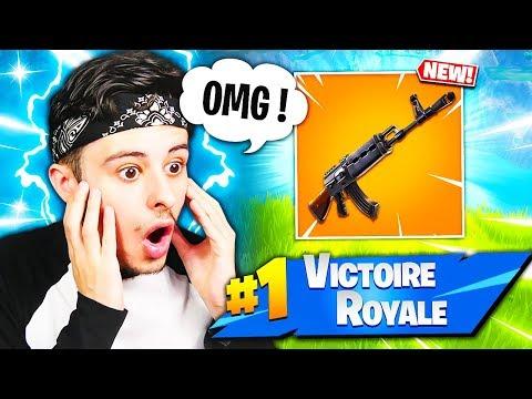 MON INCROYABLE TOP 1 AVEC LA NOUVELLE AK-47 SUR FORTNITE BATTLE ROYALE !!! 😱