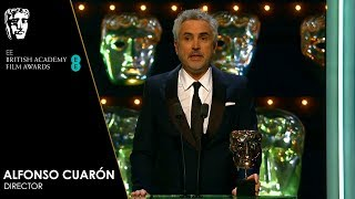 Alfonso Cuarón Wins Director for Roma | EE BAFTA Film Awards 2019