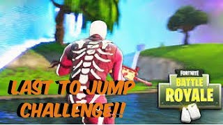 Fortnite Battle Royale - THE LAST TO JUMP CHALLENGE!! - ANGEL OF DEATH SKIN!!