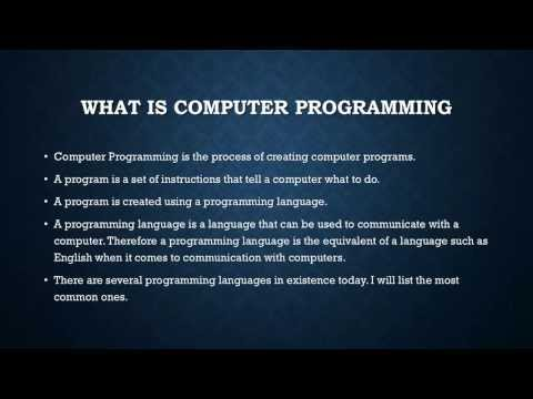 Computer Programming 1 - Introduction to computer programming (For the absolute beginner)