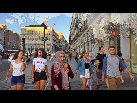 🇪🇸 MADRID WALK to Neptune and Cibeles Fountains and City Council of Madrid Building from Sol | SPAIN