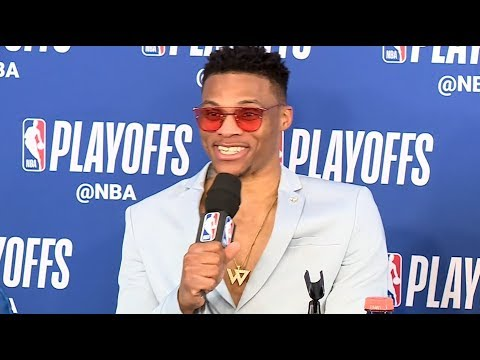 Russ, Melo, PG13, Donovan interview after the victory against the Jazz