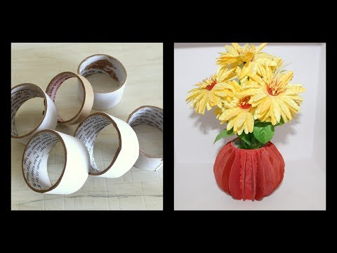 Flower vase making from waste material